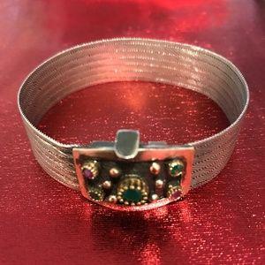 Handcrafted .925 Oxidized Silver Bracelet